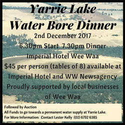 Wee Waa Fundraiser for Yarrie Lake